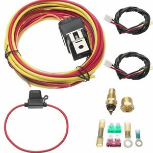Universal 165 To 185 Dual Control Electric Cooling Fan Wiring Harness 40a Relay