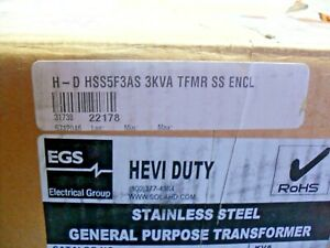 Hss5f3as Hevi duty Egs Sola Emerson General Purpose Transformer Stainless Steel