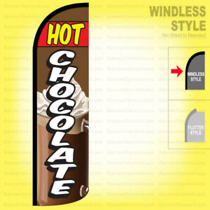 Hot Chocolate Windless Swooper Flag 3x11 5 Ft Tall Feather Banner Sign Q