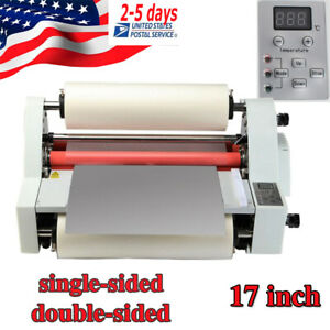 Electric 450mm 4 Roller Eight Bearings Hot And Cold Roll Laminating Machine Usps