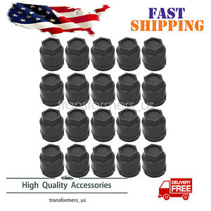 20 Pcs Black Lug Nut Covers Cap Fit For For Buick Chevrolet Gmc Chevy 10028614