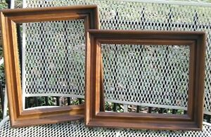Pair Of Deep Walnut Picture Frames Reproductions Of Old Frames 11 X 14