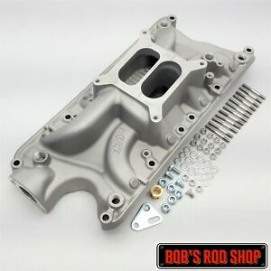 Small Block Ford Satin Cast Aluminum Intake Manifold 260 289 302 Dual Plane