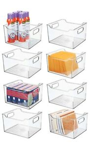 Mdesign Plastic Storage Bin Container Home Office Desk And Drawer Organizer 8 P