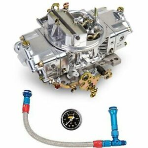 Holley 0 4776sak Aluminum Double Pumper Carburetor Kit 600 Cfm Includes Carb Fue