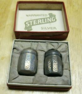 Antique Vintage Warrented Sterling Silver Salt Pepper Shaker Set S C S Co