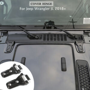 Front Engine Hood Hinge Cover Decoration Sticker For 2018 Jeep Wrangler Jl Jlu