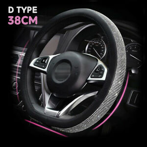 Car Steering Wheel Cover 15 D Type Shiny Rhinestone Bling Diamond For Girl Lady