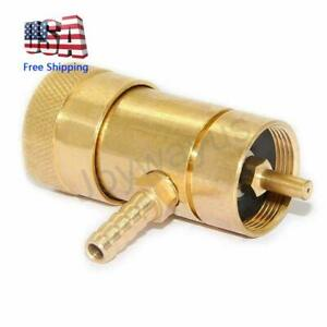 Solid Brass Oxygen Regulator Tank Valve Fit Disposable Tanks With Barb Fitting