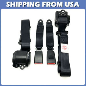 3 Point 2 Universal Retractable Seat Belts Fit For Jeep Cj Yj Wrangler 1982 1995