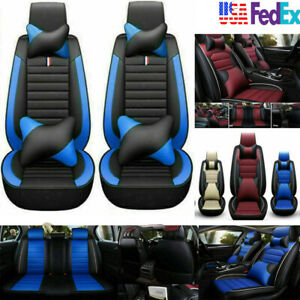 Us 5 seats Car Suv Seat Covers Protector cushion Front rear Full Set Pu Leather