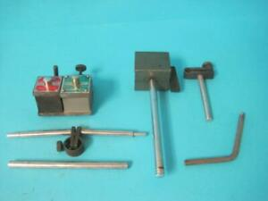 Magnetic Base Lot Starrett Indicator Milling Stand Holder No 657 W attachments