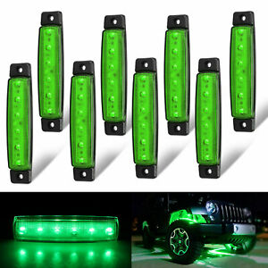 8pcs 6 Led Rock Light For Jeep Offroad Atv Truck Bed Under Body Fog Lights Green