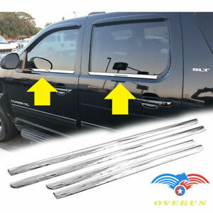 For 2007 2014 Chevy Tahoe Avalanche 4pcs Stainless Steel Window Sill Moldings
