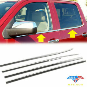 Fits 2014 2018 Chevy Silverado Stainless Steel Window Molding Sills