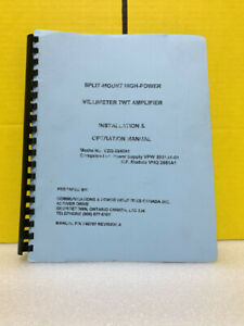 Communications Power Industries Canada 740797 Twt Amplifier Ops install Manual