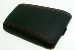 Leather Synthetic Center Console Armrest Cover Fits Pontiac Gto 04 06 Red Stitch