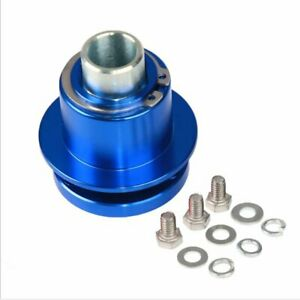 360 Car Steering Wheel Quick Release Disconnect Hub Fits 3 Hole Blue Color Us