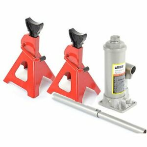 Jegs 79006k 4 Ton Bottle Jack And 3 Ton Jack Stands