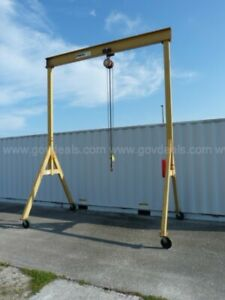 Spanco 2 Ton Gantry Crane On Casters C m 2 Ton Trolley And Hoist