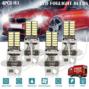 2x H7 Led Headlight Bulb Kit High Low Beam 100w 30000lm Super Bright 6500k White