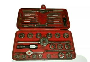 Snap on Tools Automotive Metric Tap Die Set Branded Red Case 40 Piece Tdm117a