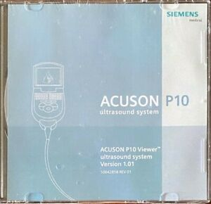 Siemens Acuson P10 Viewer Portable Ultrasound System Cd Version 1 01 New rare