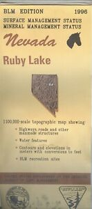 Usgs Blm Edition Topographic Map Nevada Ruby Lake 1996 Mineral 100k