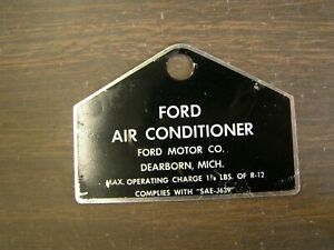 Nos Oem Ford Ac Tag Mustang Comet Cougar Torino Air Conditioning 1969 1970 1971