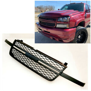 Paintable Grille For 2005 2007 Chevy Silverado 1500 2500hd 3500hd Black