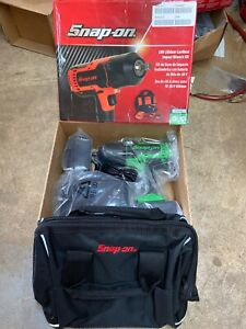 Snap On 18v Lithium Cordless Impact Wrench Kit In Green Ct8850g