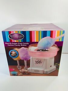 Nostalgia Electrics Retro Hard Candy Cotton Candy Maker Pink White