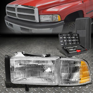 For 94 02 Dodge Ram Truck 1500 2500 3500 Driver Side Headlight Lamps tool Set