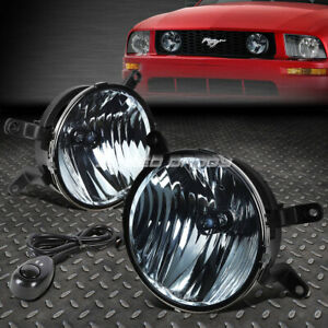 For 05 09 Ford Mustang Smoked Lens Bumper Fog Light Replacement Lamps W Switch