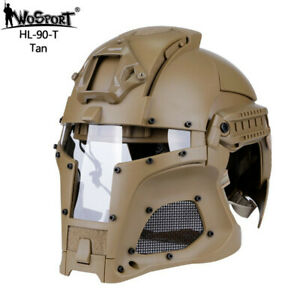 Outdoor Airsoft Helmet Motorbike Sports Paintball Full Face Army Tactical Mask $159.99