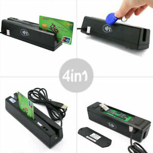 Zcs160 Magnetic Stripe Credit Card Rfid Emv Ic Chip Psam Reader Writer 4 In 1