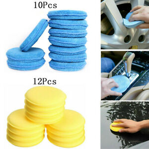 Us Car Polish Foam Sponge Waxing Applicator Cleaning Detailing Soft Pads 2 Style
