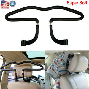 Auto Car Seat Headrest Jacket Coat Suit Clothes Hanger Holder Pu Steel Black