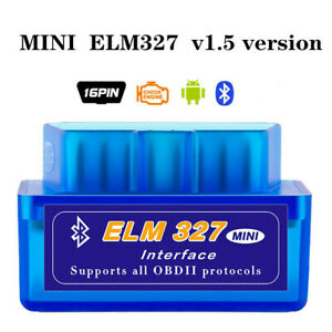 Elm327 V1 5 Bluetooth Obdii Car Diagnostic Tool Obd2 Interface Scanner Tool