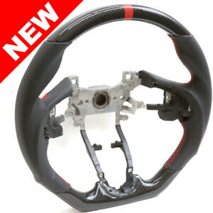 Handkraftd 15 19 Honda Fit Hydro Carbon Steering Wheel W Red Centering Stripe