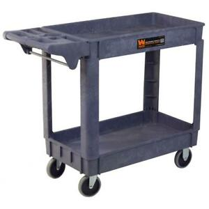 Utility Carts With Wheels 500 Pound Capacity 40x17 Inch Service Rolling Shop New