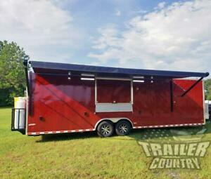 New 2021 8 5x30 Enclosed Mobile Concession Kitchen Food Bbq Vending Trailer