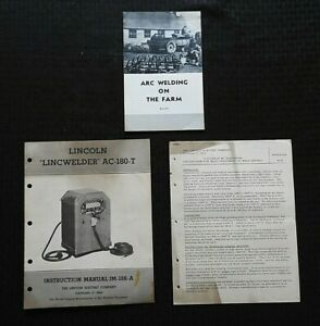 1950 s the Lincoln Lincwelder Ac 180 t Welder Owners Operators Manual Extras