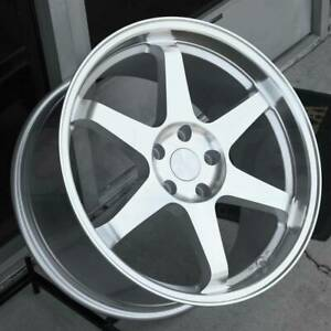 17 Esr Sr07 Silver Wheels Fit Honda Prelude S2000 240sx 17x8 5 30 5x114 3 Set