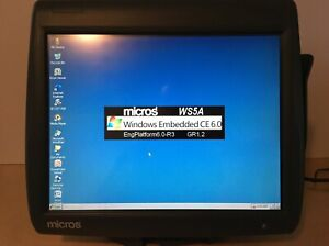 Micros Workstation 5a System Unit Touchscreen Point Of Sale Pos System W Stand