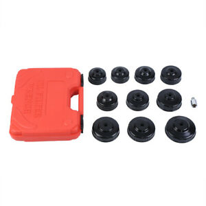 11 Pcs Oil Filter Cap Wrench Socket Removal Installer Hand Tools W Suitcase