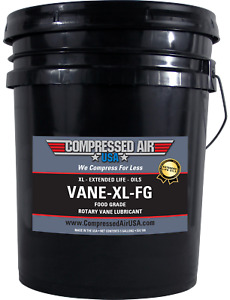 Food Grade Rotary Vane Air Compressor Oil Xl Extended Life Oils 5 Gal