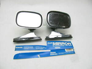 Pair Vintage Harada 1600 Side View Mirrors Chrome Bullet Style