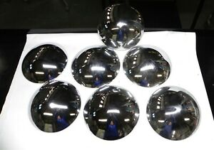 1960 67 Ford Gmcal Custom Baby Moon Hub Caps Set Of 7 Od 9 5 8 Id 9 3 6