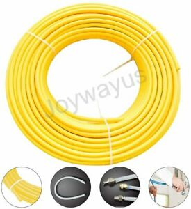6 Mm Od Pneumatic Tubing Nylon Air Line Hose Fluid Transfer 32 8ft yellow